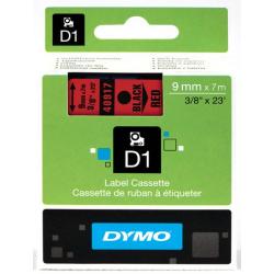 Taśma Dymo D1 9mm x 7m - czerwona/czarny nadruk