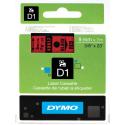 Taśma DYMO D1 40917 9mm x 7m - czerwona/czarny nadruk