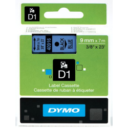 Taśma Dymo D1 9mm x 7m - niebieska/czarny nadruk