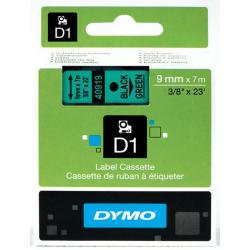 Taśma Dymo D1 9mm x 7m - zielona/czarny nadruk