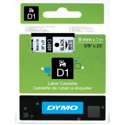Taśma Dymo D1 9mm x 7m - biała/czarny nadruk