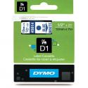Taśma DYMO D1 45014 12mm x 7m - biała/niebieski nadruk