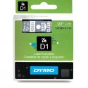 Taśma DYMO D1 45020 12mm x 7m - przezroczysta/biały nadruk
