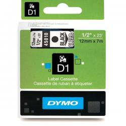 Taśma Dymo D1 12mm x 7m - przezroczysta/czarny nadruk