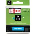Taśma DYMO D1 45012 12mm x 7m - przezroczysta/czerwony nadruk