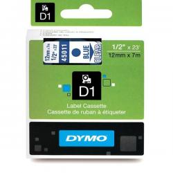 Taśma Dymo D1 12mm x 7m - przezroczysta/niebieski nadruk