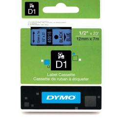 Taśma Dymo D1 12mm x 7m - niebieska/czarny nadruk