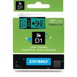 Taśma Dymo D1 12mm x 7m - zielona/czarny nadruk