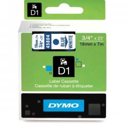 Taśma Dymo D1 19mm x 7m - biała/niebieski nadruk