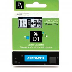 Taśma Dymo D1 19mm x 7m - przezroczysta/czarny nadruk