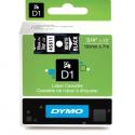 Taśma DYMO D1 45811 19mm x 7m - czarna/biały nadruk