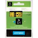 Taśma DYMO D1 53718 24mm x 7m - żółta/czarny nadruk