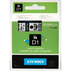 Taśma Dymo D1 24mm x 7m - przezroczysta/czarny nadruk