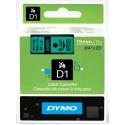 Taśma DYMO D1 45809 19mm x 7m - zielona/czarny nadruk