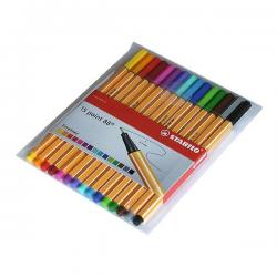 Cienkopisy Stabilo Point 88 - komplet w etui 15 kolorów