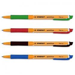 Pióro kulkowe STABILO pointVisco - komplet 4 kolorów w etui