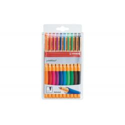 Pióro kulkowe STABILO pointVisco - komplet 10 kolorów w etui