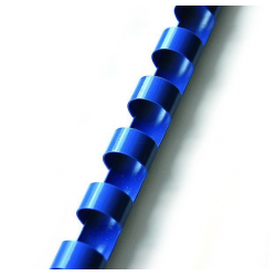 Grzbiety plastikowe do bindowania 14mm/100szt. - niebieskie