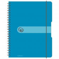 Brulion na spirali Herlitz EasyOrga - A4 PP, w kratkę - niebieski transparentny