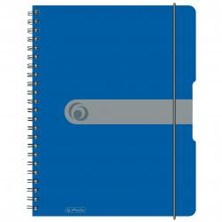 Brulion na spirali Herlitz EasyOrga - A4 PP, w kratkę - niebieski