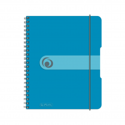 Brulion na spirali Herlitz EasyOrga - A5 PP, w kratkę - niebieski transparentny