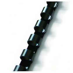 Grzbiety plastikowe do bindowania 25mm/50szt. - czarne