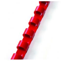 Grzbiety plastikowe do bindowania 8mm/100szt. - czerwone