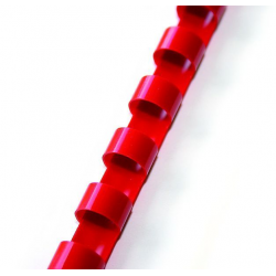 Grzbiety plastikowe do bindowania 12,5mm/100szt. - czerwone