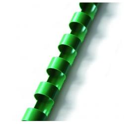 Grzbiety plastikowe do bindowania 19mm/100szt. - zielone