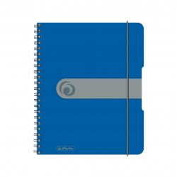 Brulion na spirali Herlitz EasyOrga - A5 PP, w kratkę - niebieski