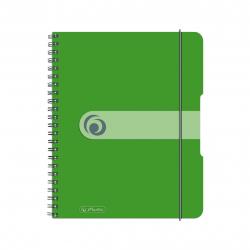 Brulion na spirali Herlitz EasyOrga - A5 PP, w kratkę - zielony