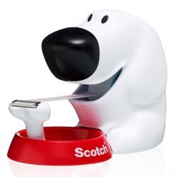 Podajnik do taśmy 3M Scotch C31 Piesek - biały