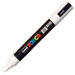 Marker z farbą plakatową Uni POSCA PC-5M - biały