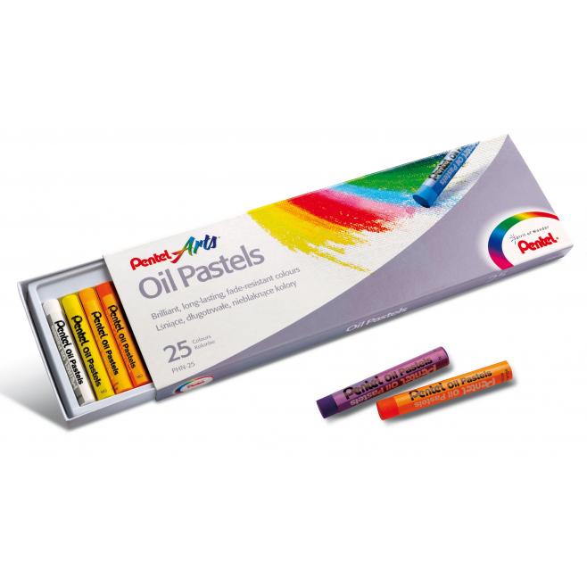 Pastele Olejowe Pentel - 25 kolorów
