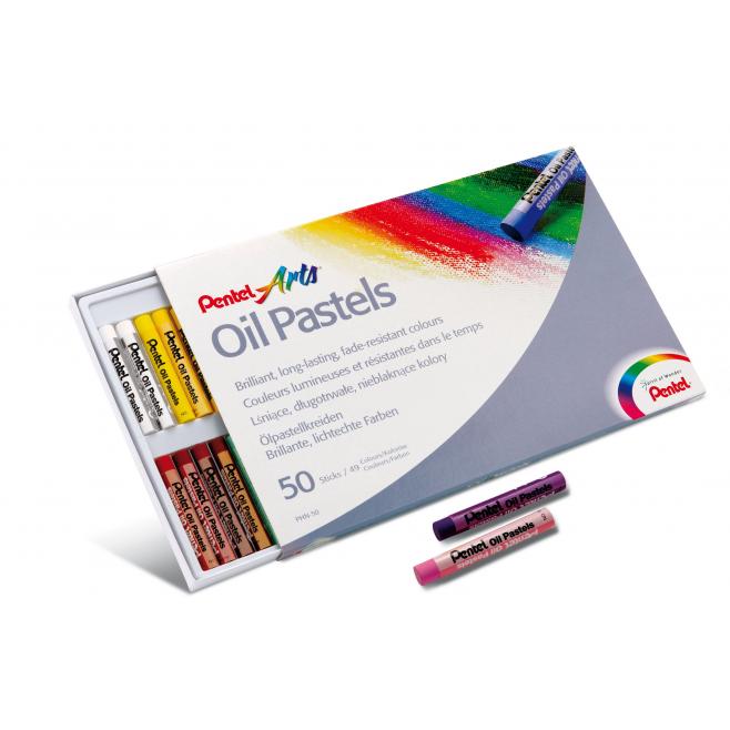 Pastele Olejowe Pentel - 50 kolorów