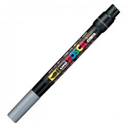 Marker z farbą plakatową Uni POSCA PCF-350 - srebrny