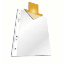 Koszulka na dokumenty Standard A4 - do formtu folio - transparentna / 100 szt.