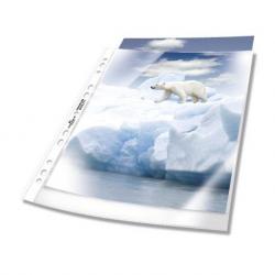 Koszulka na dokumenty Premium A4 - otwarta od góry - transparentna / 100 szt.