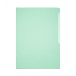 Obwoluta na dokumenty Business A4 - transparentna zielona / 50 szt.