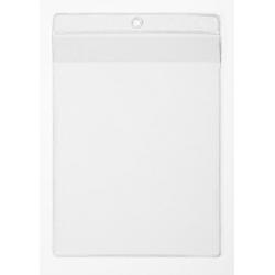 Kieszonka na dokumenty A4 z klapką - transparentna / 10 szt.