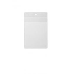 Kieszonka na dokumenty A6 z klapką - transparentna / 10 szt.