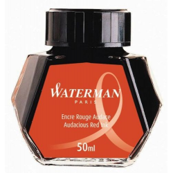 Atrament do piór Waterman w butelce - kolor czerwony 50 ml