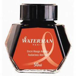 Atrament do piór Waterman w butelce - kolor czerwony 50 ml