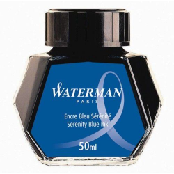 Atrament do piór Waterman w butelce - kolor niebieski 50 ml