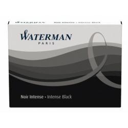 Naboje Waterman długie (8 szt.) - kolor czarny