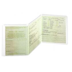 Etui ochronne 3-częściowe do dokumentów samochodowych - transparentne / 1 szt.