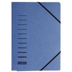 Teczka z preszpanu z narożnymi gumkami - niebieska / 1 szt.