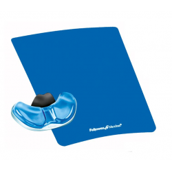 Podkładka pod mysz i nadgarstek Fellowes Palm Health-V Crystal - niebieska