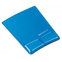 Podkładka pod mysz i nadgarstek Fellowes Health-V Crystal - niebieska
