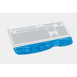 Podkładka przed klawiaturę Fellowes Health-V Crystal - niebieska